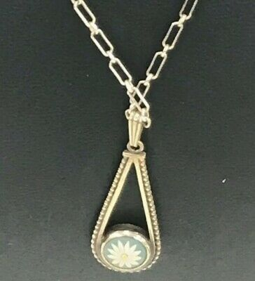 £55 • Buy WEDGWOOD Sterling Silver Daisy Jasper Pendant Link Chain Necklace Boxed