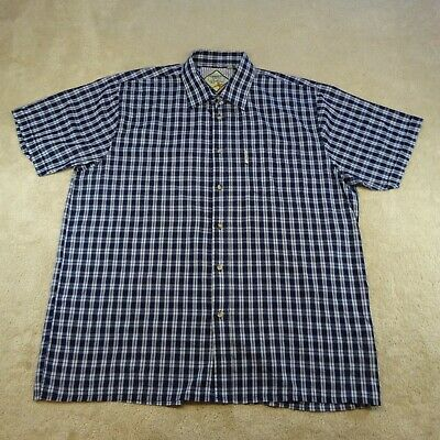 £15.99 • Buy Rydale Button Up Shirt Adult 2XL XXL Blue Check Short Sleeve Country Top Mens