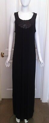 AU30 • Buy Pea In A Pod, Size 14, Black Maxi Dress With Sequin Detail Neckline, BNWT