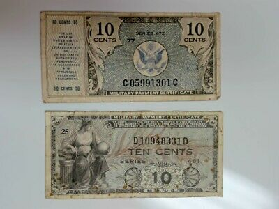 $10 • Buy Military Payment Certificates.....10  Cents  X 2..........#a-317
