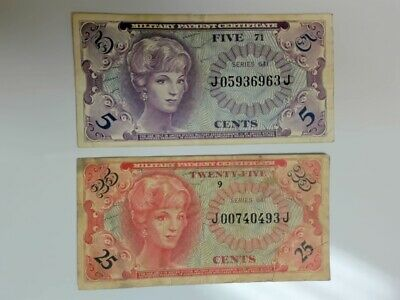 $10 • Buy Military Payment Certificates.....5  And  25  Cents.........#a-318
