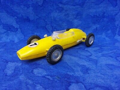 $ CDN1.26 • Buy Vintage 1960s MARX Toys Yellow Plastic Indy Racer Friction Motor Lotus BRM Repco