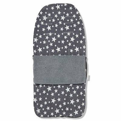 £18.99 • Buy Snuggle Summer Footmuff Compatible With Baby Jogger City Mini Gt - Grey Star