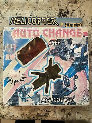 £50.42 • Buy Vintage Transformers Auto Change Helicopter Jeep 5 In 1 W/ Unused Stickers Hound