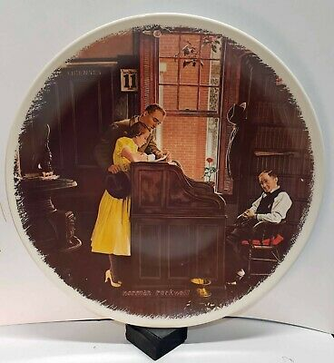$ CDN7.87 • Buy Norman Rockwell Collector Plate - Marriage License - Pre-Production Proof Plate