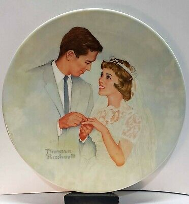 $ CDN10.39 • Buy Norman Rockwell Collector Plate - Bride & Groom - Pre-Production Proof Plate