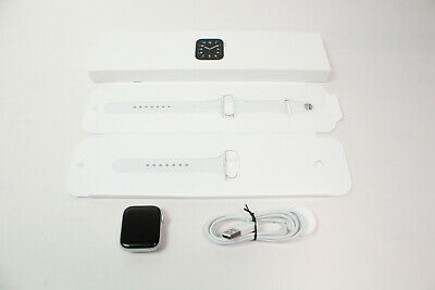 $ CDN251.13 • Buy Apple Watch SE (GPS, 44mm) - Silver Aluminum Case With White Sport Band