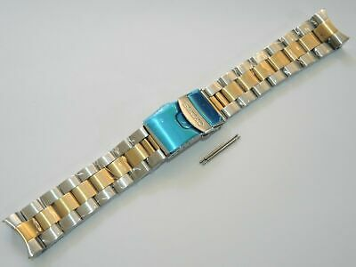 $ CDN84.19 • Buy New 22mm Solid Two Tone Oyster Bracelet Fits Seiko Diver's Skx007-009 / 7002