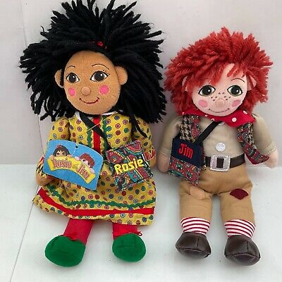 £79.99 • Buy Rosie & Jim Canal Narrowboat Plush Beanie Rag Dolls With Their Tote Bags & Tag!!