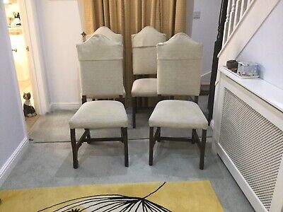 £140 • Buy YOUNGER FURNITURE Set Of 4 Retro Reupholstered High Backed Dining Chairs