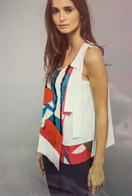 £5.50 • Buy MISS CAPTAIN French Designer Asymmetric Abstract Print Top Sz 12 BNWT RRP £69