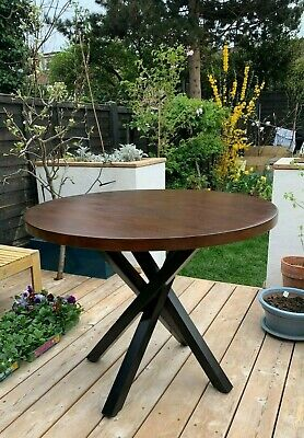 £90 • Buy Mid Century Round Dining Table | Upcycled | Criss Cross Legs