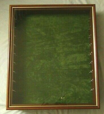 £20 • Buy Wall Hanging Glass Fronted Display Cabinet 70cm X 59cm
