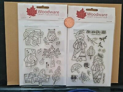 £0.99 • Buy Woodware Craft Collection Girls And Ladies Themed Stamp Sets