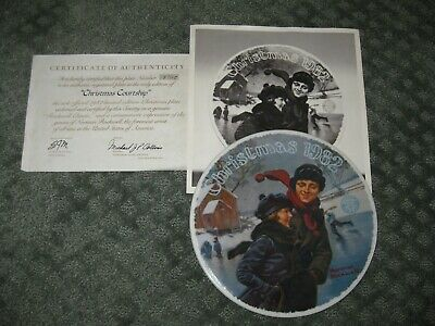 $ CDN15.11 • Buy EC NORMAN ROCKWELL PLATE + Certificate Christmas Courtship Holiday Decor Gifts