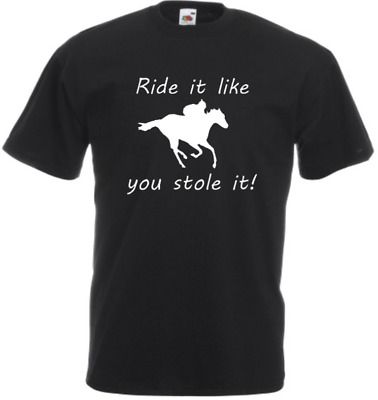 £8.49 • Buy Funny Horse Riding T Shirt 4 Colours Kids Adults Unisex Multi Listing Pony New