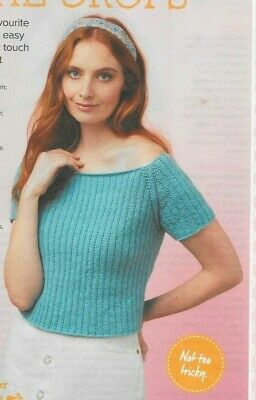 £0.99 • Buy Knitting Pattern For A Woman's Cropped Top