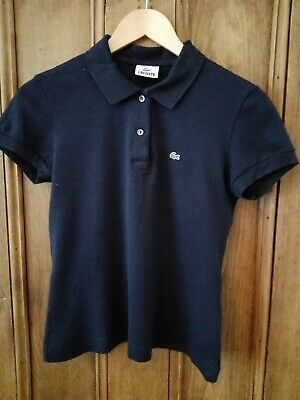 £24 • Buy Lacoste Ladies Navy Polo Shirt 42 (size 10-12) New