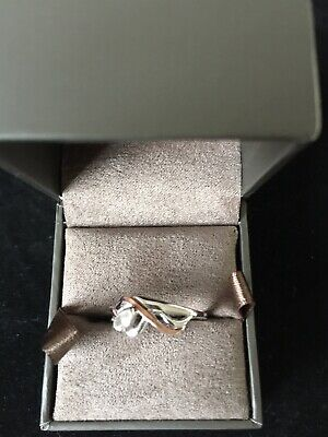 £20.60 • Buy Clogau Silver And Rose Gold Ring Size L/M