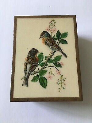 £36.35 • Buy Vintage Reuge  Birds  Swiss Musical Movement  Edelweiss  Wood Musical Box