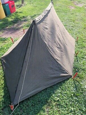 $79.99 • Buy Vintage U.S. Military Army Two-Man Shelter 2 Halves Complete W/ Poles & Stakes
