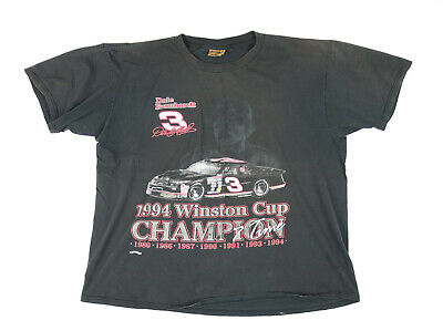 $ CDN12.58 • Buy Vintage 1990s Dale Earnhardt #3 NASCAR Distressed T-shirt XL Made In USA