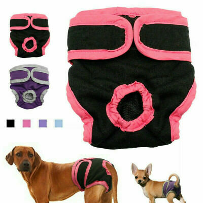 £4.36 • Buy Female Pet Dog Physiological Pants Sanitary Nappy Diaper Shorts Underwear M-XL
