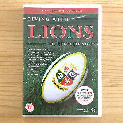 £4.97 • Buy Living With Lions (DVD, 2009, 2-Disc Set) Collectors Edition Rugby *New+Sealed*