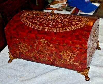 $236.59 • Buy  MAITLAND SMITH Gilded Etched Leather  Dresser Box With Brass Feet