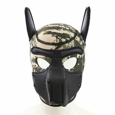 £15 • Buy Puppy Play Rubber Dog Mask Hood Fetish, Camo