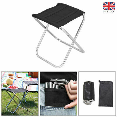 £11.82 • Buy Portable Aluminum Folding Chair Stool Seat Outdoor Camping Hiking Fishing Travel