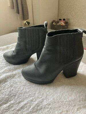£3.50 • Buy Top Shop Black Leather Ankle Boots Size 5