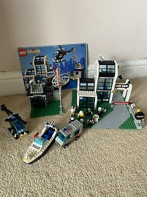 £49.99 • Buy Lego System 6598 Police Station & Instructions & 7 Minifigures Helicopter Boat