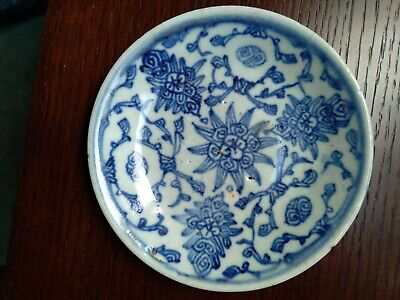 £50 • Buy Chinese Antique Porcelain Blue And White Ceramic Plate 18 —19 Century .