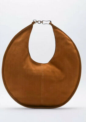 £49.99 • Buy BNWT ZARA Tan Suede Leather Large Round Chain Strap Shoulder Hand Bag RRP £70