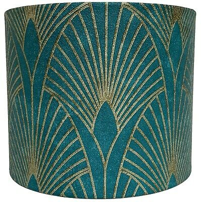 £26.99 • Buy Art Deco Lampshade Ceiling Light Shade Green Gold Style Design Vintage Retro