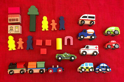 £9 • Buy Wood And Plastic Cars And Trains Bundle. Delta Sport, IKEA, Hot Wheels, Etc.