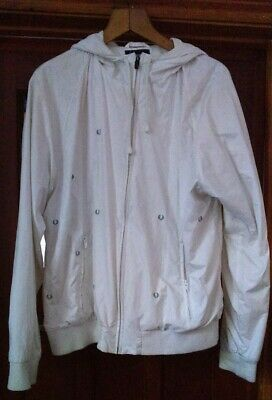 £25 • Buy Men's Fred Perry White Hoodie Jacket Size Large