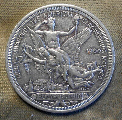 £15.47 • Buy 562. Bucyrus, Ohio  Medal Awarded The American Clay Working Mch. 1900 Paris Expo
