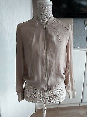 £10 • Buy Ladies Beige Silk Style Bomber Jacket From H&M. Size 8