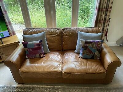 £375 • Buy Sofa Genuine Real Leather Vintage 'Halo' Distressed Large Two Seater 190*100cm