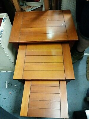 £27.50 • Buy Nest Of 3 Pine? Coffee Tables. Used. READ DESC. Occasional Side