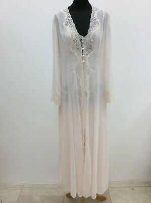 £30 • Buy Jane Woolrich Bridal Pale Pink 2 Piece Nightgown & Long Night Robe Size S/M