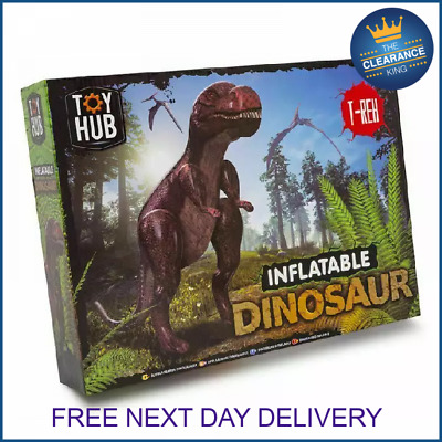 £14.99 • Buy Giant Inflatable Dinosaur 5ft 10 Pre Historic Fancy Dress Party Blow Up Toy