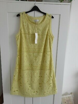 £14.99 • Buy A Lovely NEW WITH TAG Ladies JOHN ROCHA Yellow Cotton Lined Summer Dress Size 16