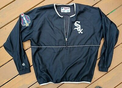 $58 • Buy Vintage Chicago White Sox Pullover Jacket Majestic Authentic 2005 Player Worn