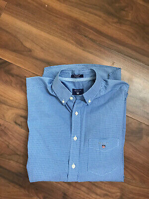 £18.50 • Buy GANT Smart Casual Shirt Stripe Blue - Heather Pinpoint Oxford Small