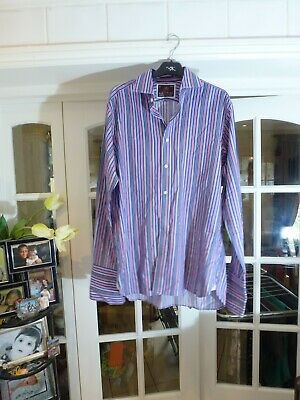 £5.99 • Buy I Sartorial At M&S Men Cotton Multicoloured Striped Shirt Size 15.5