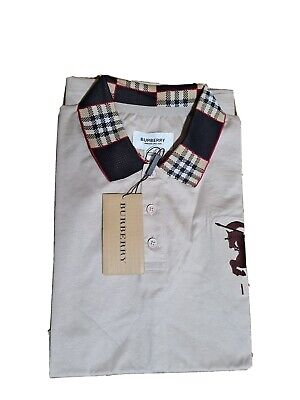 $59 • Buy BURBERRY LONDON  MEN S  EMBROIDERY LOGO 3 BUTTON POLO SLIM FIT SHIRT Small