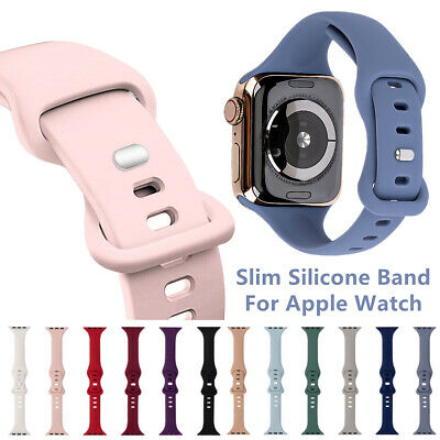 $ CDN6.16 • Buy Wrist Watch Band Strap Silicone For Apple IWatch Series 6/5/4/3/2/1/Se 42/44mm